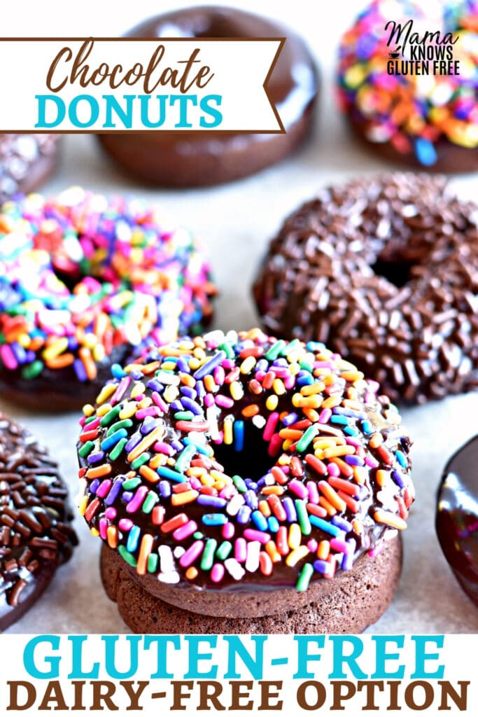gluten-free chocolate donuts Pinterest pin
