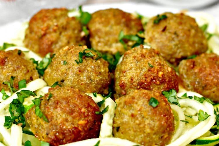 Paleo Pesto Turkey Meatballs {Gluten-Free, Dairy-Free}