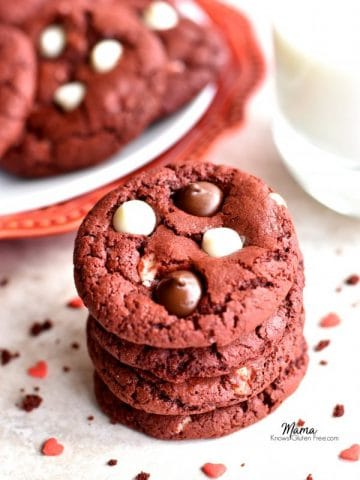 gluten-free red velvet chocolate chip cookies