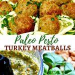 Paleo Pesto Turkey Meatballs Pinterest pin