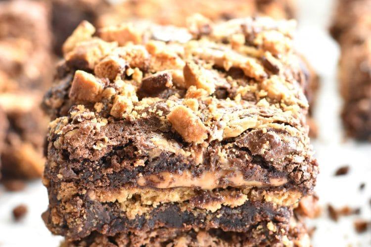 Gluten-Free Chocolate Peanut Butter Graham Brownies {Dairy-Free Option}