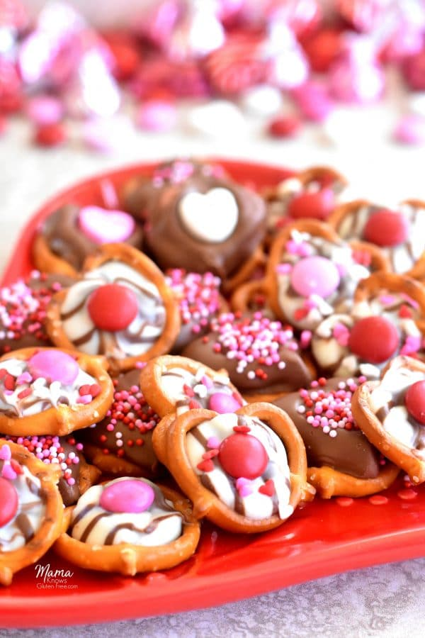 Gluten-Free Chocolate Covered Pretzels for Valentine's Day