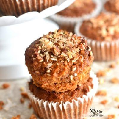 Paleo Carrot Cake Muffins (Gluten-Free, Dairy-Free, No Refined Sugar)