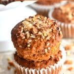 Paleo carrot cake muffins Pinterest pin3