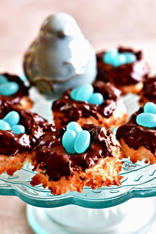 coconut macaroon nest cookies