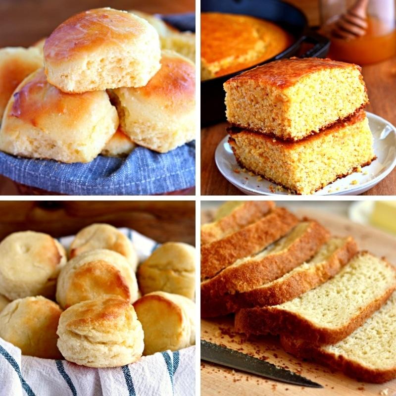 gluten-free bread recipes photo collage