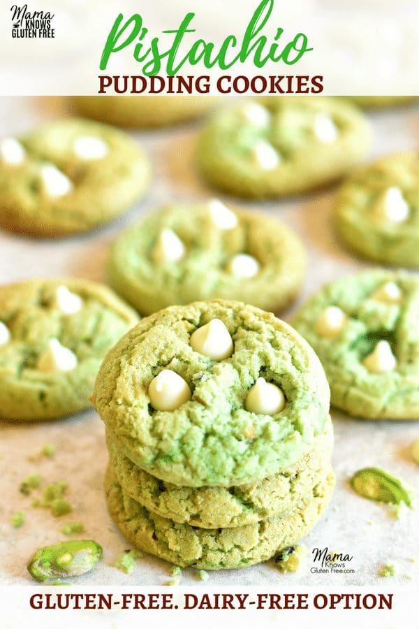 gluten-free pistachio pudding cookies