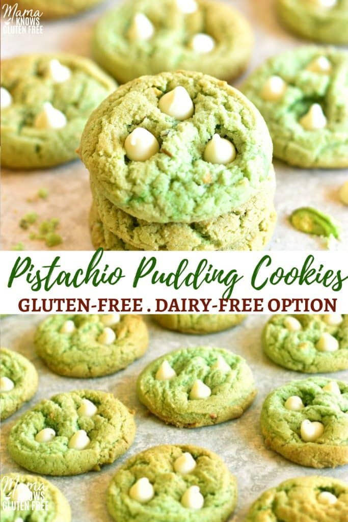 gluten-free Pistachio cookies Pinterest pin 1B