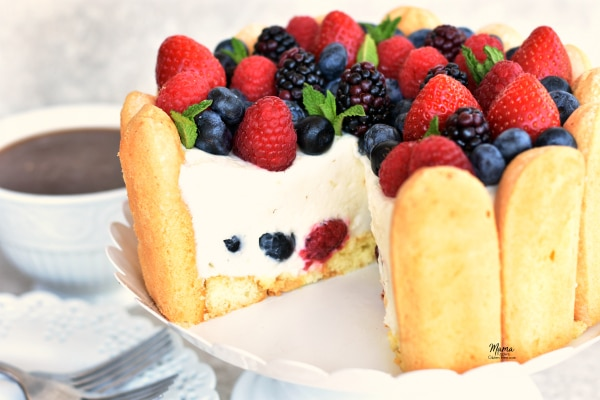 Lemon Mousse Cake With Ladyfingers