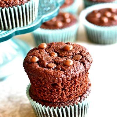 Paleo Chocolate Muffins {Gluten-Free, Grain-Free, Dairy-Free, No Refined Sugar}