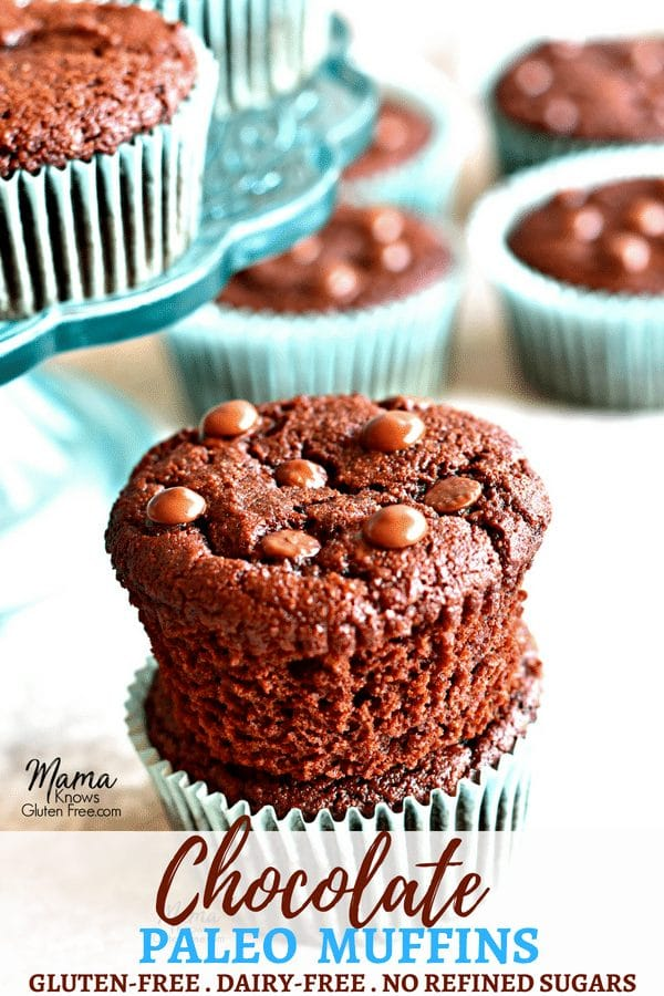 Paleo Chocolate Muffins Pinterest Pin