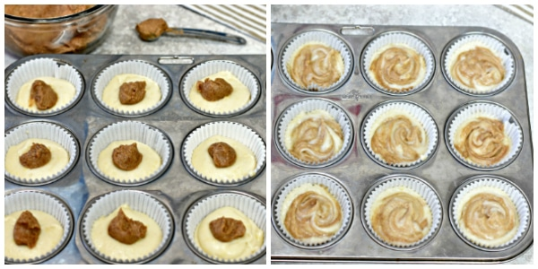 cinnamon roll muffins baking steps