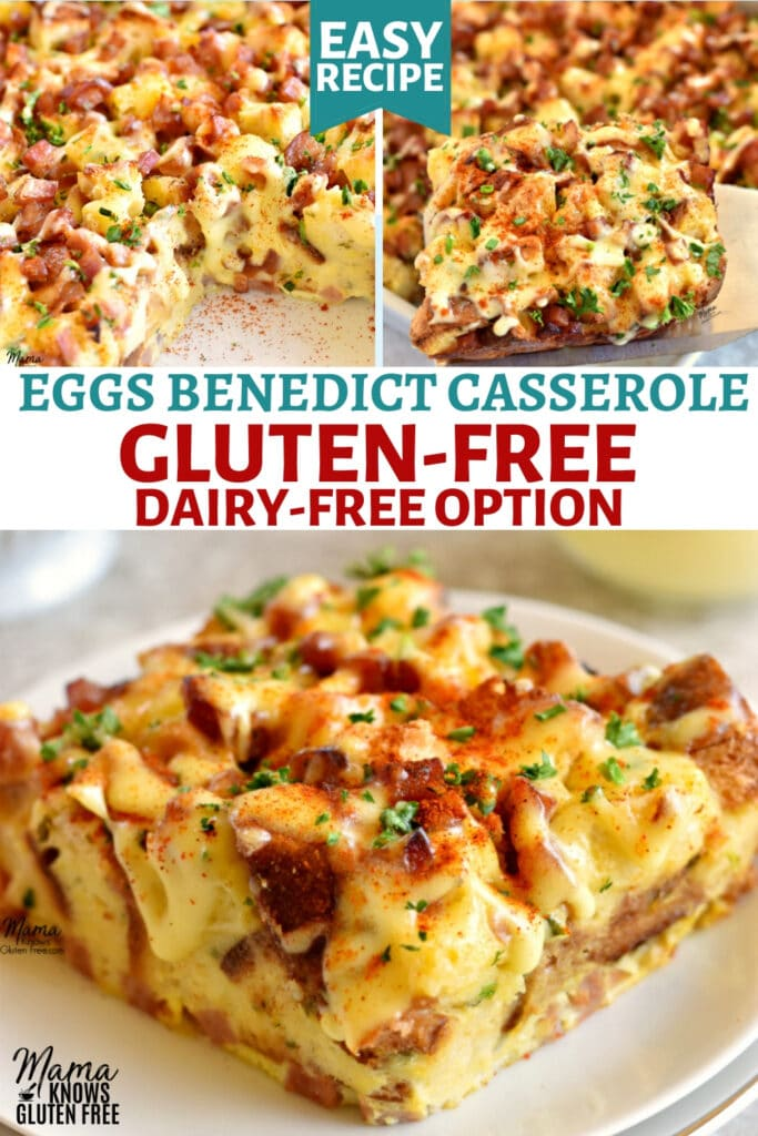 gluten-free eggs Benedict casserole Pinterest pin 1C