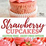 gluten-free strawberry cupcakes Pinterest pin