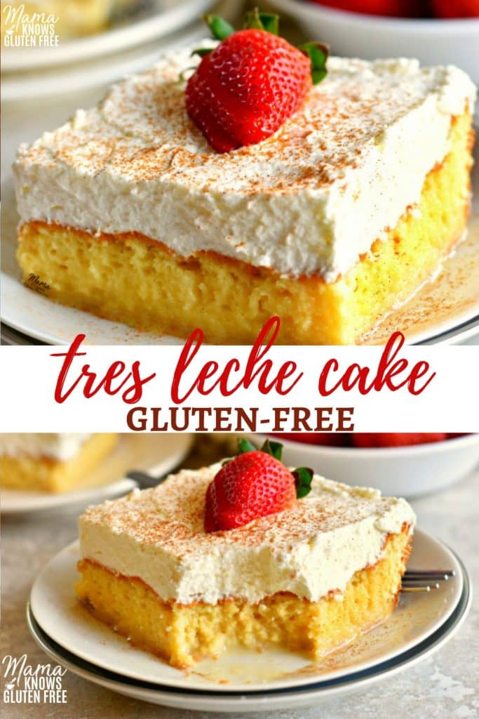 gluten-free tres leche cake Pinterest pin 1-a
