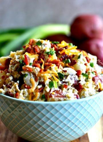Loaded Bacon Ranch Potato Salad {Gluten-Free, Dairy-Free Option}