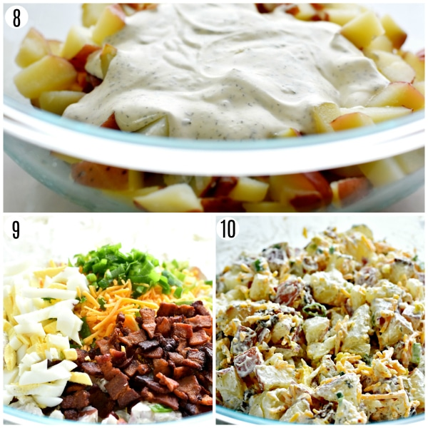 loaded bacon ranch potato salad recipe steps 8-10