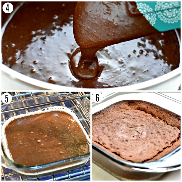 gluten-free brownie recipe steps 4-6 photo collage