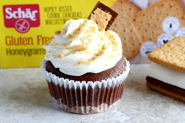 gluten-free s'mores cupcake