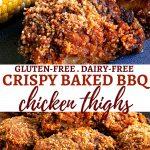 crispy baked bbq chicken thighs