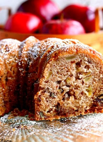 Gluten-Free Apple Dapple Bundt Cake {Dairy-Free Option}