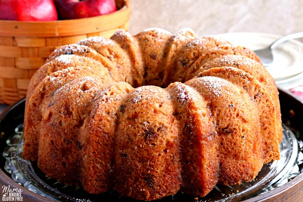 gluten-free apple dapple bundt cake