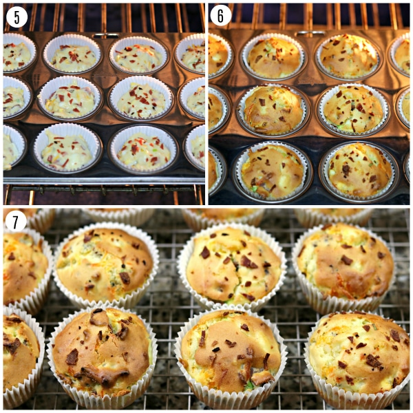 Gluten-Free Bacon, Egg and Cheese Muffins steps 5-7