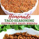 gluten-free homemade taco seasoning Pinterest pin 2