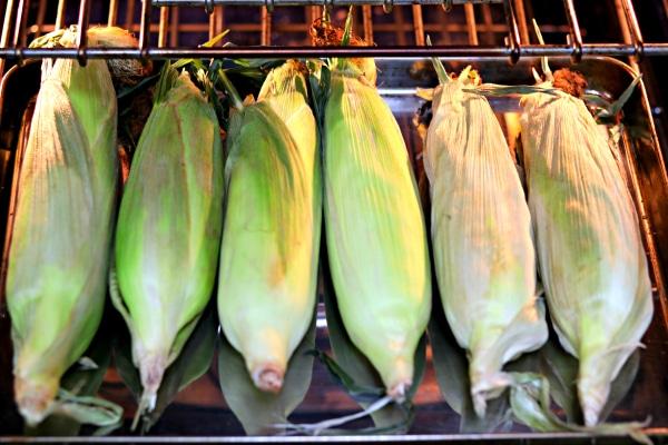 oven roasting corn step