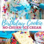 Birthday Cookie No-Churn Ice Cream