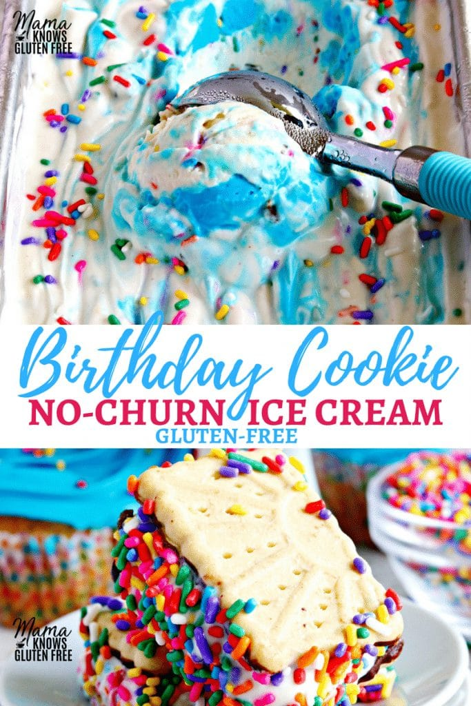 Birthday Cookie No-Churn Ice Cream