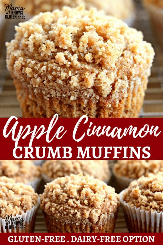 Easy Apple Cinnamon Crumble Muffins