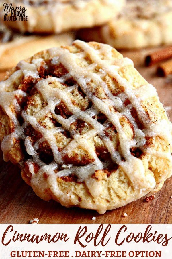 gluten-free cinnamon roll cookies