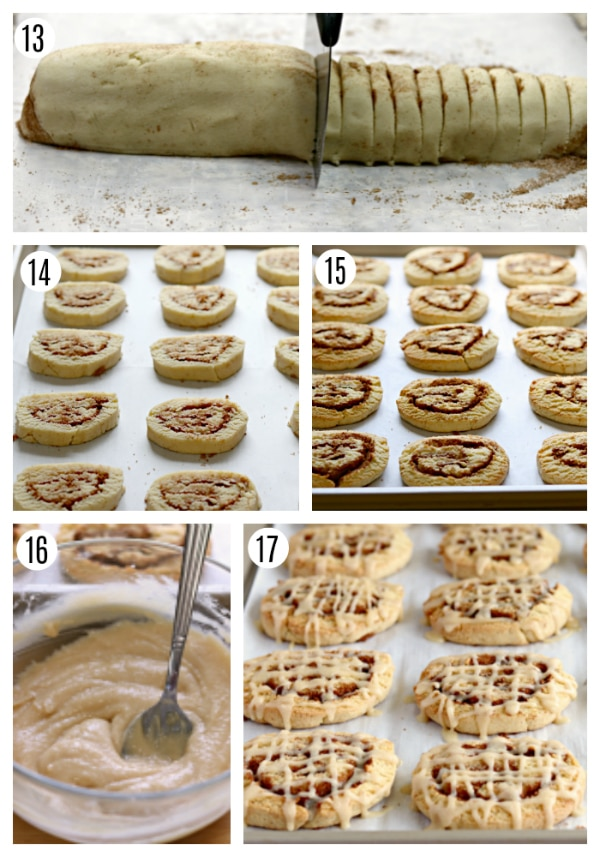 gluten-free cinnamon roll cookies steps 13-17