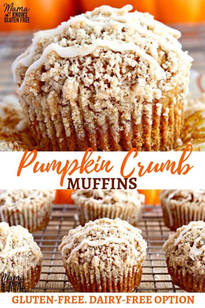 gluten-free pumpkin crumb muffins Pinterest pin
