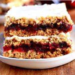 gluten-free cranberry oatmeal bars Pinterest pin 2B