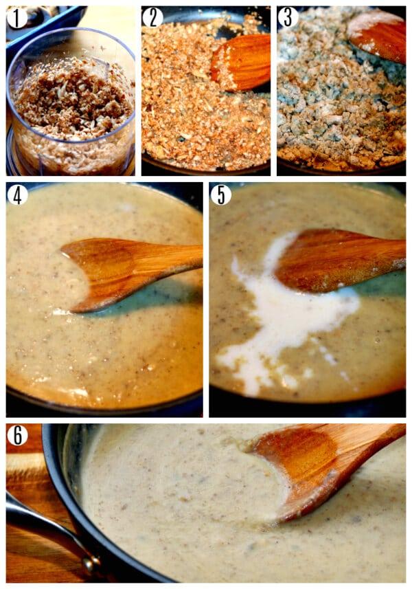 gluten-free cream of mushroom soup recipe steps 1-6