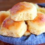 a basket of gluten-free dinner roll
