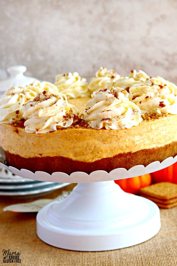 No Bake Pumpkin Cheesecake Gluten Free Mama Knows Gluten Free
