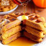 gluten-free pumpkin waffles Pinterst pin B