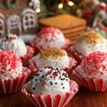 gluten-free gingerbread truffles Pinterest pin