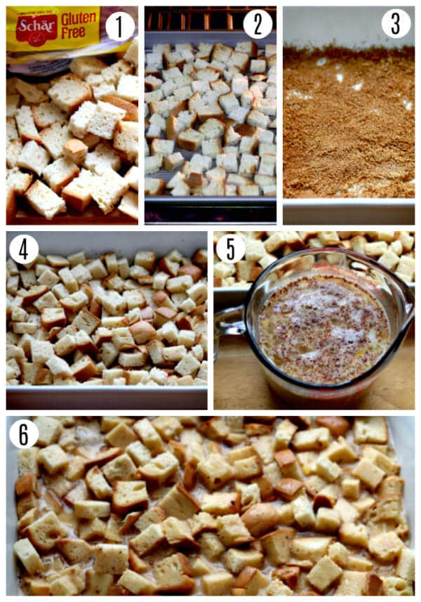 gluten-free french toast casserole recipe steps 1-6