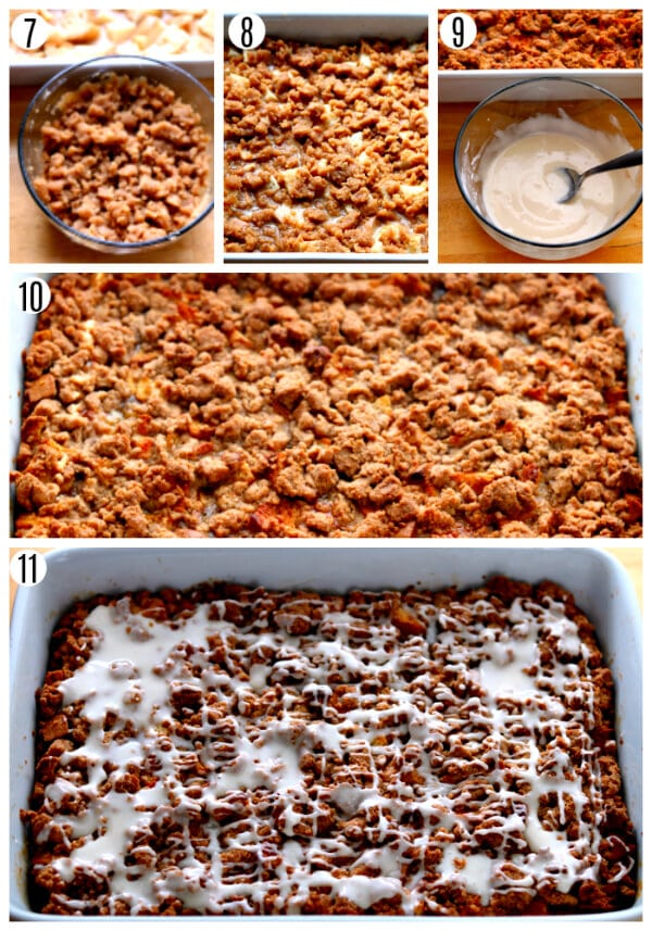 gluten-free french toast casserole recipe steps 7-11