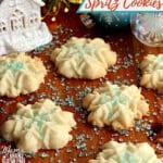 gluten-free almond spritz cookies Pinterest pin