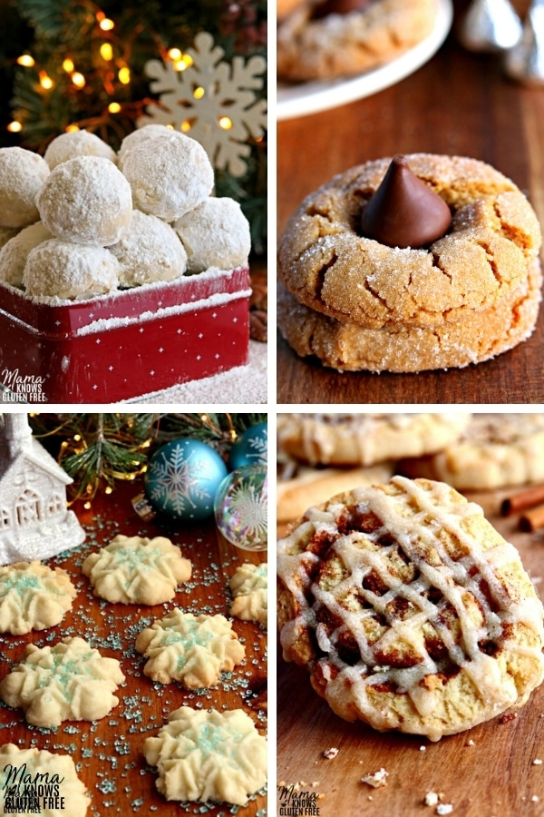gluten-free classic Christmas cookie recipes photo collage
