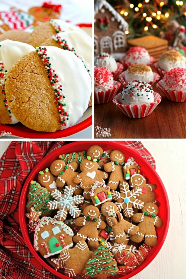 gluten-free gingerbread cookie recipes photo collage