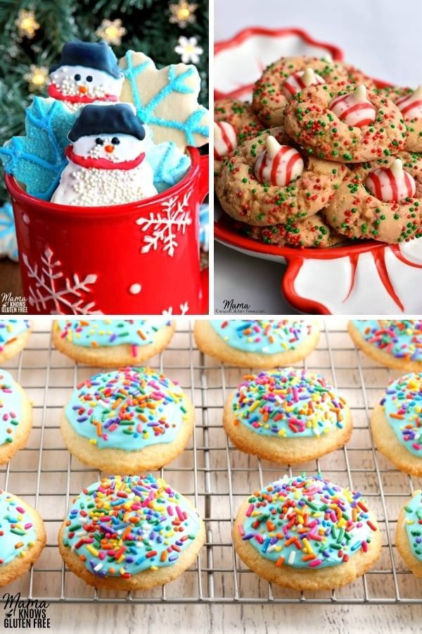 gluten-free sugar cookie recipes photo collage