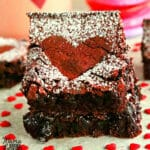 gluten-free red velvet brownies Pinterest pin