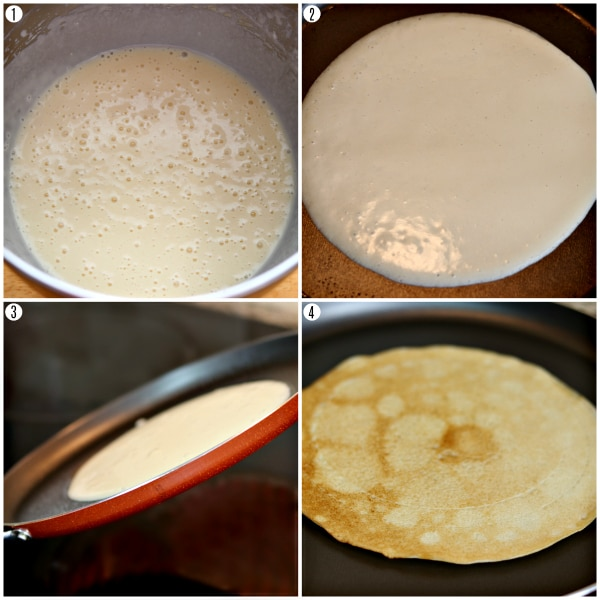 gluten-free crepes recipe steps 1-4