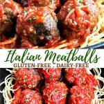 gluten-free meatballs Pinterest pin 1